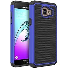 Coque Galaxy A5 2016, Pasonomi® Samsung Galaxy A5 2016 Coque Housse Étui Hybride Armour Couche 2 en TPU + PC Anti-Chocs dur Coque pour Samsung Galaxy A5 2016, Bleu