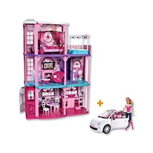 Barbie y8209 la casa dei sogni e fiat 500 for Casa di malibu di barbie