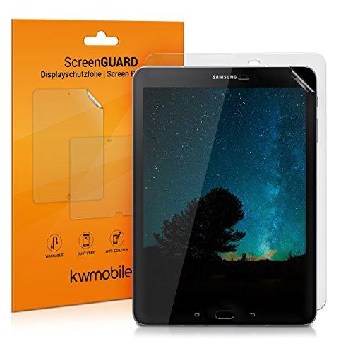 2x kwmobile Folie matt für Samsung Galaxy Tab S3 9.7 T820 / T825 Displayschutzfolie - Schutzfolie Anti-Fingerabdruck Displayschutz Displayfolie entspiegelt