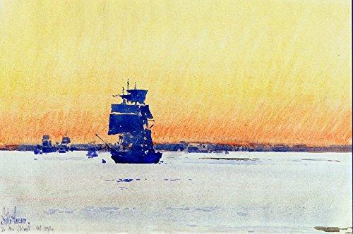 Das Museum Outlet–Sailing Ship Gesperrt in Eis, 1893, gespannte Leinwand Galerie verpackt. 96,5x 121,9cm
