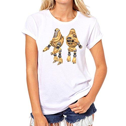 Fall Out 4 Computer Game Art Shooting Petrol Damen T-Shirt Weiß