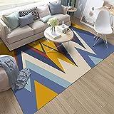 Ujaij Shaggy Teppich, Modern rutschfest Flauschig Teppichunterlage, Geeignet Kinderzimmer Spielteppich, Pflegeleicht,001,3.9x5.2ft