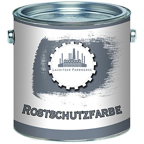 Lausitzer Farbwerke Rostschutz-Grundierung traditionelle Rostschutz-Farbe in Hell-Grau und Rot-Braun