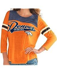 "Denver Broncos Women's G-III NFL ""Touchdown"" Dual Blend 3/4 Sleeve T-shirt Chemise"