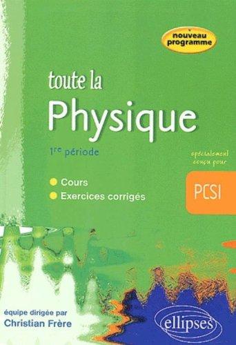 Toute la physique en PCSI