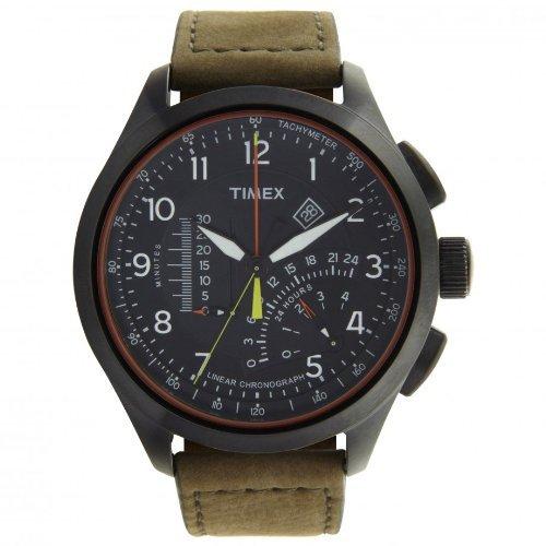Timex T2P276 Orologio da Polso, Cronografo da Uomo, Cinturino in Pelle, Colore Marrone