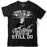 Photo de QHWHTX® Neil Young Crazy Horse Funny Men's Cotton T-Shirt Casual par QHWHTX