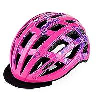 Fahrradhelm Pink YesDone Kinder Schutzhelm Pflaume Form W/ärmeableitung Loch Einstellbare Kinder Reithelm