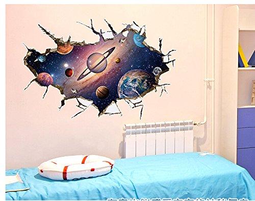 Wandtattoo Wandbild Wandsticker Kosmos Galaxie Universum Space Planet 3D 121