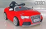 "Kinderfahrzeug - Elektro Auto ""Audi RS5"" - lizenziert - 12V7AH Akku und 2 Motoren- 2,4Ghz ferngesteuert, mit MP3- rot"