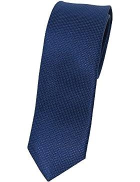 bugatti Seidenkrawatte blau TIE 7cm slimfit