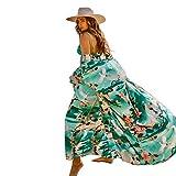 Lazzon Parei Copricostume Mare Donna Chiffon Cardigan da Spiaggia Sexy Bikini Cover up (Verde B)