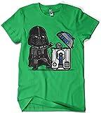 Camisetas La Colmena 209 - Star Wars - Robotictrashcan (Donnie) (M, Verde Irlandes)