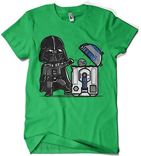Camisetas La Colmena T-Shirts der Bienenstock 209-Star Wars-robotictrashcan (Donnie) Grün Irisches Grün L