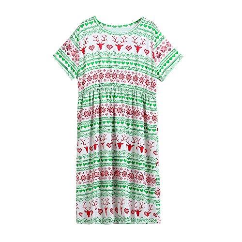 JUTOO Pijamas de Navidad a Juego de la Familia de la Muchacha Santa Trajes Trajes Ropa(2T 4T 6T 8T 10T 12T)