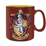 Harry Potter - Keramik Tasse Riesentasse 460 ml - Gryffindor - Wappen Logo - Geschenkbox