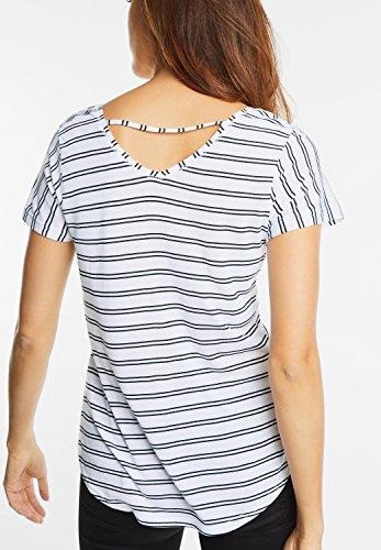 Street One Damen Streifen Shirt Marinda white (weiss)