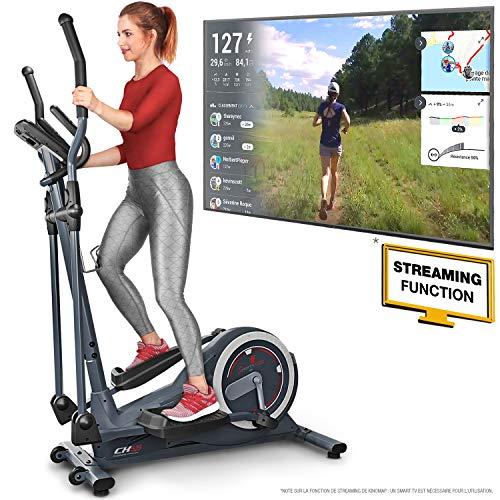 Sportstech Vélo elliptique CX625 ergomètre Compatible avec Application Smartphone, Poids d'inertie...