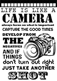 Fotografie – Life is like a Camera Metall Schild 15 x 20