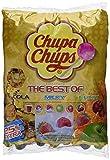 Chupa Chups Best of Lutscher-Beutel, 250 Lollis im Nachfüllbeutel, 6 farbenfrohe Geschmacksrichtungen