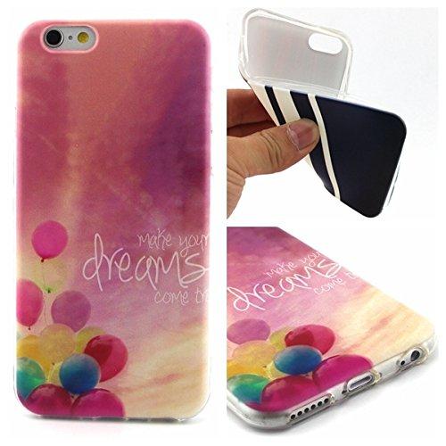 Uming® Motif imprimé coloré de cas de TPU souple [ pour IPhoneSE IPhone 5S SE 5G 5 IPhone5 IPhone5S Apple5S ] Colorful Pattern Print Coque de protection Coque de téléphone portable Case