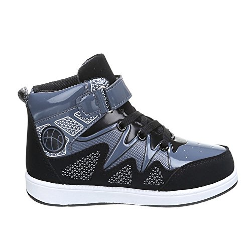 Freizeitschuhe Schwarz 65 Kinder Schuhe Grau L qz1WtAI