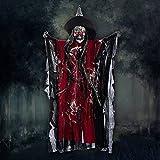 Halloween Deko Zombie Gruselig Hängend Gespenst Augen Glänzend gruselige Stimme