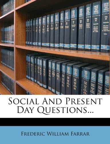 Social And Present Day Questions.