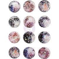 Prima Marketing Moon Child Enamel Stickers 12/Pkg-W/Foil & Glitter Accents