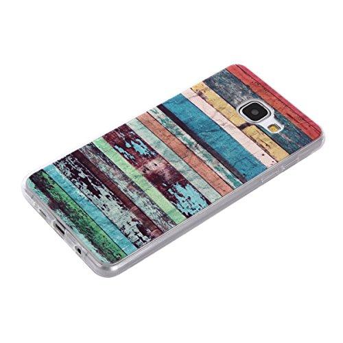 Qiaogle Telefon Case - Weiche TPU Case Silikon Schutzhülle Cover für Apple iPhone 7 (4.7 Zoll) - DD04 / Grün Blume DD10 / Retro Stammes Streifen
