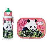 MEPAL Campus Set Brotdose + Trinkflasche 400 ml, Pop-Up (Animal Planet Panda), von 5 bis 10 Jahre