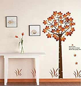 Maple bedroom wallpaper large wall stickers AY202