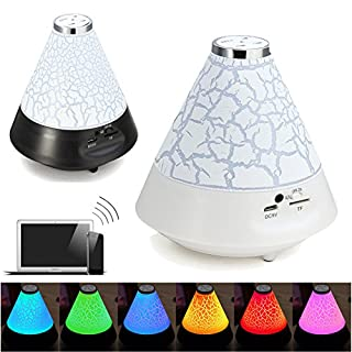MASUNN Bunte LED Nachtlicht Portable Stereo Bluetooth 3,0 Wireless Music Speaker - Weiß