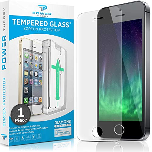 Power Theory Panzerglasfolie kompatibel mit iPhone SE 5/5s - Japanische 9H Panzerglas Folie, HD Displayschutzfolie/Panzerfolie, Tempered Glas Schutzglas, Schutzfolie Screen Protector Glass (Hd-iphone 5 Screen Protector)
