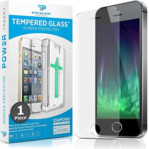 lasfolie kompatibel mit iPhone SE 5/5s - Japanische 9H Panzerglas Folie, HD Displayschutzfolie/Panzerfolie, Tempered Glas Schutzglas, Schutzfolie Screen Protector Glass ()