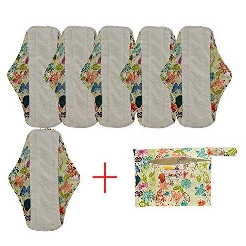 OHBABYKA, wiederverwendbare Damenbinden/Menstruationsbinden aus Bambus-Stoff -
