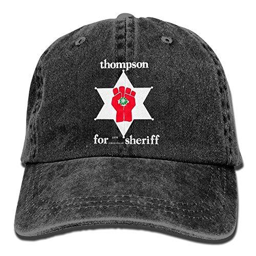 shyly Thompson Sheriff Gonzo Plain Einstellbare Cowboy Cap Denim-Hut für Frauen und Männer