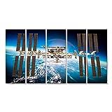 islandburner Quadri moderni Stazione Spaziale Internazionale sul pianeta Terra. Elementi di q Stampa su tela Quadro EUX