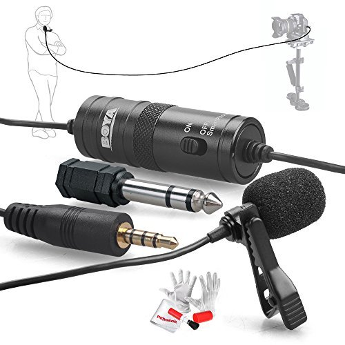 Fenderüberzug by-m1omnidirektionales Kondensator-Mikrofon 20ft Audio Kabel kompatibel mit DSLR Camcorder Video-Kameras/Smartphone
