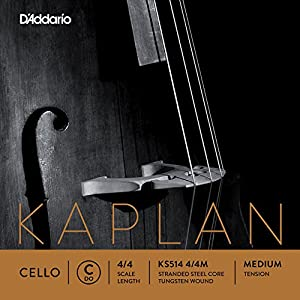D'Addario KS510-4 / 4L Cello Kaplan String Set 4 / 4 Light