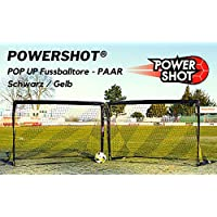 POWERSHOT Coppia di Mini Porte da Calcio Pop UP - (1,20 x 0,90)