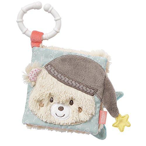 Fehn 060188 Soft-Bilderbuch Bruno - Fühlbuch aus Stoff mit Tier Motiven - Für Babys und Kleinkinder ab 0+ Monaten - Maße: 11 x 11 cm