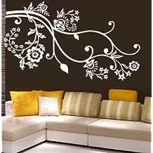 Vinilo decorativo pegatina pared, cristal, puerta (Varios colores a elegir)-flores