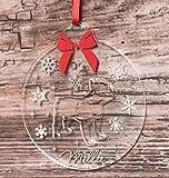 FSSS Ltd Bulldog Francese Pet Dog Christmas con Incisione Personalizzata Trasparente Palline per Albero di Natale