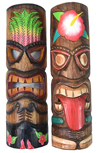 andmaske Tiki Maske Hawaii Holzmaske Masken Wandmasken ()