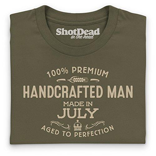 Handcrafted Man - Made in July T-Shirt, Herren Olivgrn