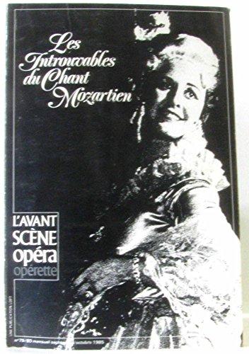 L'avant scène opéra n°79/80 -Les introuvables du Chant Mozartien