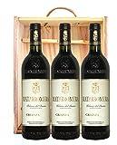 Ribera Matarromera Crianza Estuche de Madera Vino - Paquete de 3 x 750 ml - Total: 2250 ml
