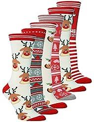 Sock Snob - 6 Paires de Chaussettes Filles Nouveauté Fête de Noël