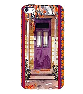PrintDhaba House D-3748 Back Case Cover for APPLE IPHONE 5 (Multi-Coloured)
